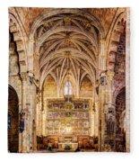 Saint Isidore - Romanesque Temple Altar And Vault - Vintage Version Fleece Blanket