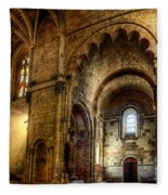 Saint Isidore - Romanesque Temple Transept Fleece Blanket