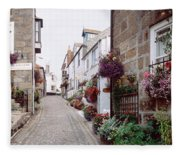 Saint Ives Street Scene, Cornwall Fleece Blanket