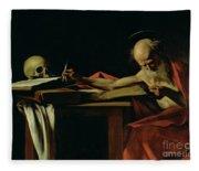 Saint Jerome Writing Fleece Blanket