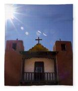 Saint Jeromes Chapel Taos Pueblo Fleece Blanket