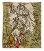 Saint John On The Island Of Patmos Receives Inspiration From God To Create The Apocalypse Fleece Blanket
