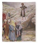 Saint John The Baptist And The Pharisees Fleece Blanket