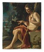 Saint John The Baptist In A Landscape Fleece Blanket