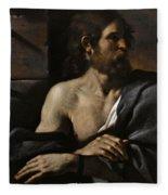 Saint John The Baptist In Prison Visited By Salome Fleece Blanket