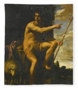Saint John The Baptist In The Wilderness Fleece Blanket