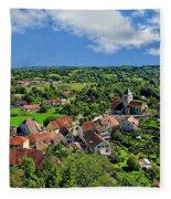 Saint-laurent Landscape Fleece Blanket