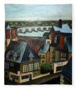 Saint Lubin Bar In Lyon France Fleece Blanket