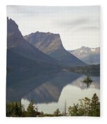 Saint Marys Lake Fleece Blanket