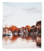 Saint Michael's Harbor Fleece Blanket