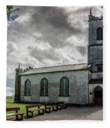 Saint Patricks Church On The Hill Of Tara Fleece Blanket