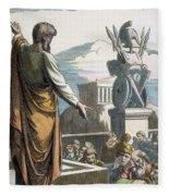 Saint Paul At Athens Fleece Blanket