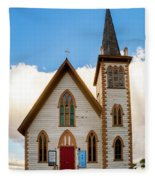 Saint Paul's Episcopal Church Verginia City Nevada Fleece Blanket