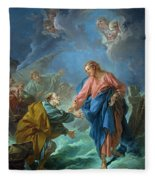 Saint Peter Invited To Walk On The Water Fleece Blanket