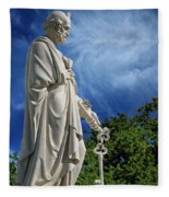 Saint Peter With Keys To Heaven Fleece Blanket