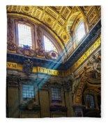 Saint Peter's Beams Of Light Fleece Blanket