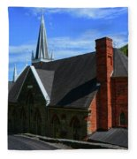 Saint Peters Roman Catholic Church In Harpers Ferry West Virginia Fleece Blanket