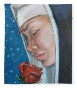 Saint Rita Of Cascia Fleece Blanket