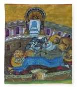 Saint Silvanus Of Emesa Fleece Blanket