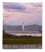 Saint Simon Island Lighthouse Fleece Blanket