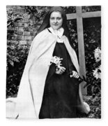 Saint Therese De Lisieux Fleece Blanket