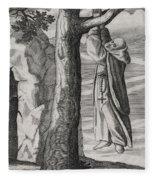 Saint Victorinus Does Penance Fleece Blanket