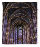 Sainte Chapelle Stained Glass Paris Fleece Blanket