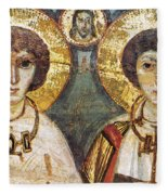 Saints Sergius And Bacchus Fleece Blanket