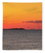 Sakonnet Point Sunrise And Lighthouse Fleece Blanket