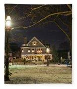 Salem Commons Winter Snow At Christmas Salem Ma Fleece Blanket