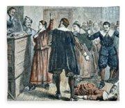 Salem Witch Trials Fleece Blanket