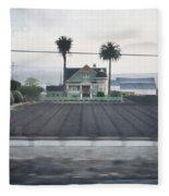 Salinas Valley Victorian Mansion Fleece Blanket