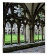 Salisbury Cathedral Cloisters Fleece Blanket