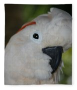 Salmon Crested Cockatoo Fleece Blanket
