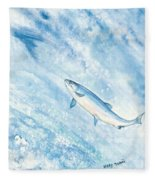 Salmon Fleece Blanket