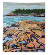 Salmon Rocks Fleece Blanket