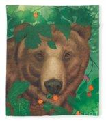 Salmonberry Bear Fleece Blanket