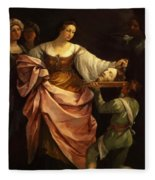 Salome With The Head Of St John Baptist 1640 Fleece Blanket