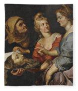 Salome With The Head Of St. John The Baptist Fleece Blanket