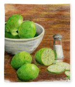 Salt And Lime Fleece Blanket