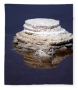 salt cristal at the Dead Sea Israel  Fleece Blanket