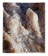 Salt Crystals Fleece Blanket