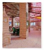 Salt Hotel, Salar De Uyuni, Bolivia Fleece Blanket