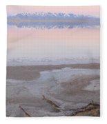 Salt Lake Sunset Fleece Blanket