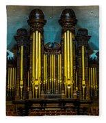 Salt Lake Tabernacle Organ Fleece Blanket