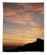 Salt Point Sunset Fleece Blanket