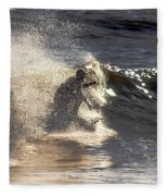 Salt Spray Surfing Fleece Blanket