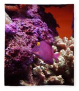 Salt Water  Aquarium Fleece Blanket