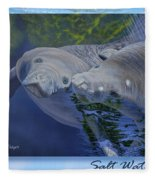 Salt Water Ballet - Manatees - 2 Fleece Blanket