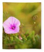 Saltmarsh Morning Glory Flower  Fleece Blanket